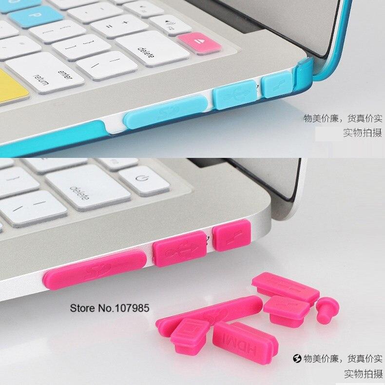 """Bunte Weiche Silikon Staub Stecker Für Macbook Pro 13 """"15"""" A1278 A1286 Ports Laptop Gummi Anti-Staub stecker Staubdicht Abdeckung Stopper"""