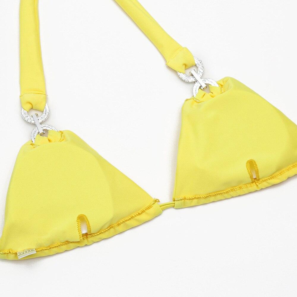 Mulheres Sexy Cristal Rhinestone bikini swimwear feminino