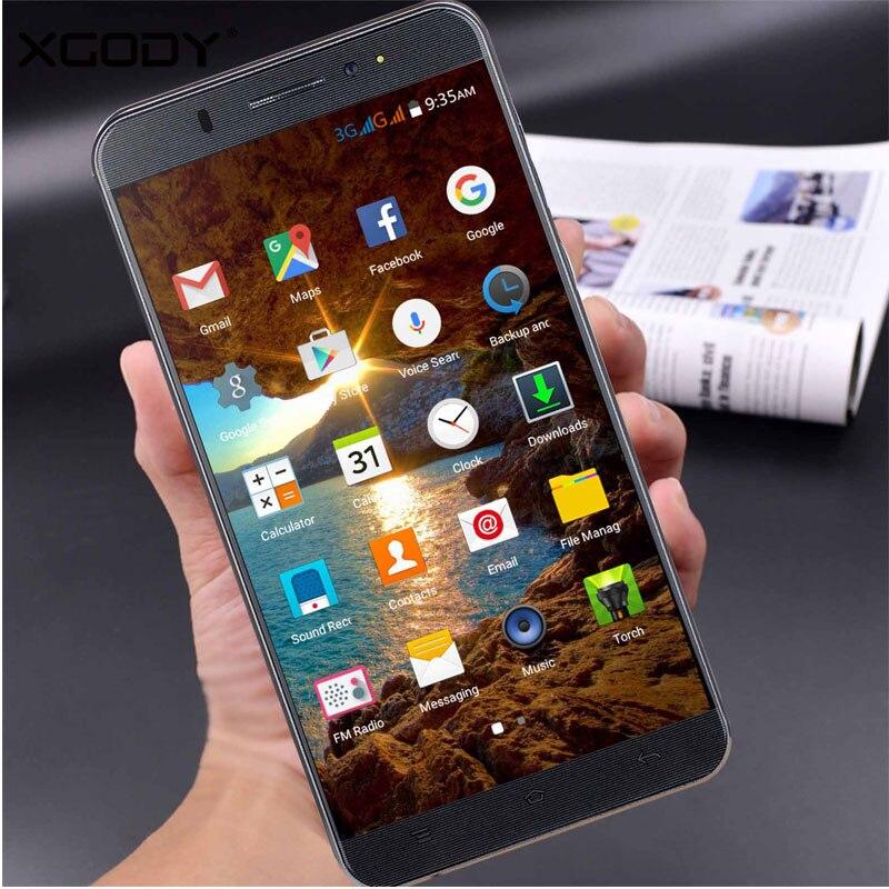 XGODY font b Smartphone b font 6 0 Inch Quad Core Dual SIM Cards 1GB RAM