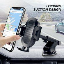 Suporte de celular getihu flexível para carro, suporte de 360 graus para celular iphone 11 x xiaomi samsung