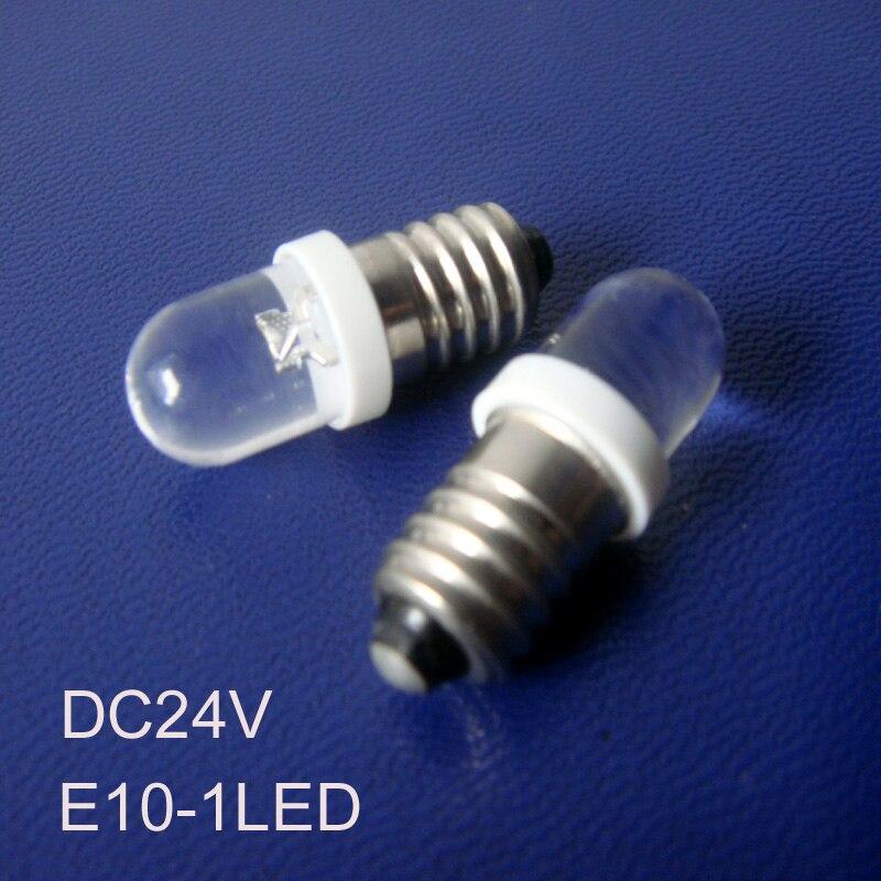 High quality E10 24vdc led lights,24V E10 LED Pilot lamp, E10 24v led car bulb 24v led E10 Signal lamp free shipping 100pcs/lot