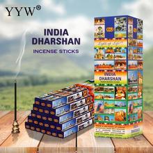 25boxes/Set Sandalwood Incense Sticks 23cm Black Aroma Diffuser Aromatic Sticks Incense Sage Incent Stick India Indoor Ceremony цены