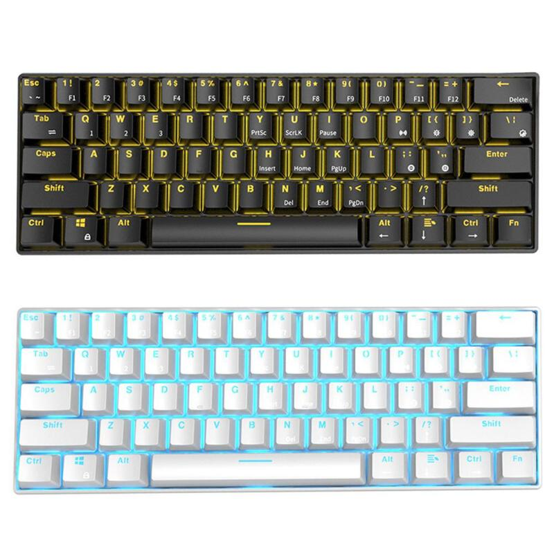 RK61 Wireless Bluetooth USB Wireless Mechanical Gaming Keyboard Backlight Gaming Keyboard Ergonomics Office Computer Components