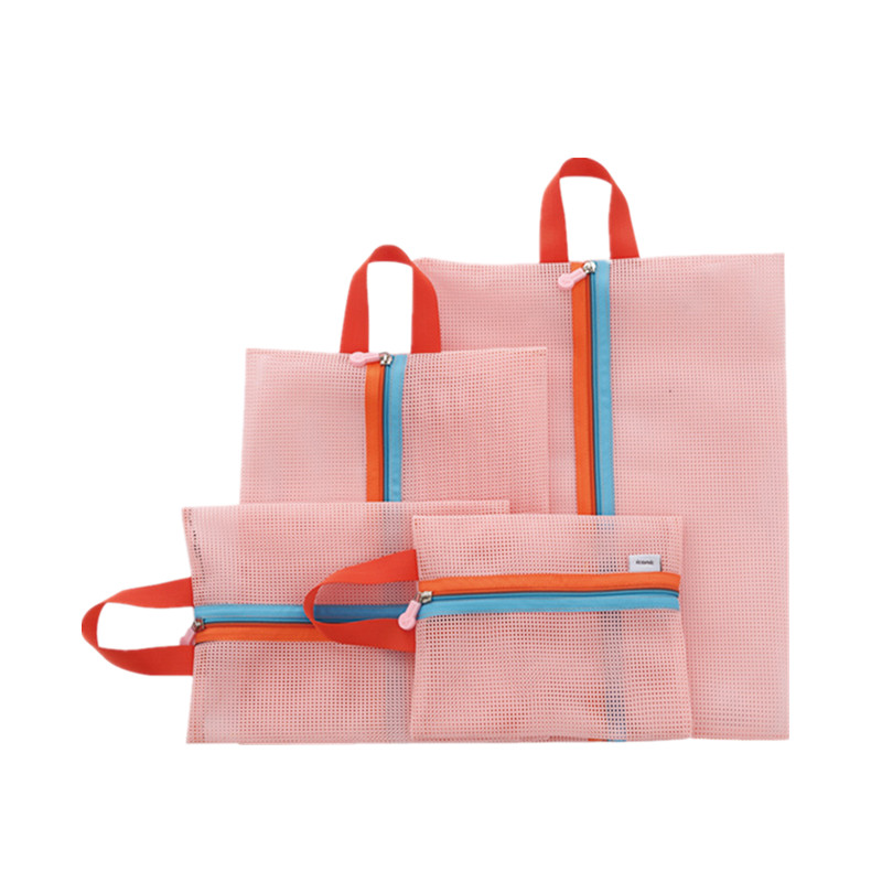 LHLYSGS Brand 4pcs/set Capacity Of Unisex Clothing Sorting Organize Bag Nylon material Superior quality pink duffle bag
