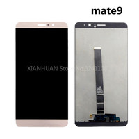 XIANHUAN Original Quality Black White Gold LCD Display Glass Panel For Huawei Mate9 Free Delivery