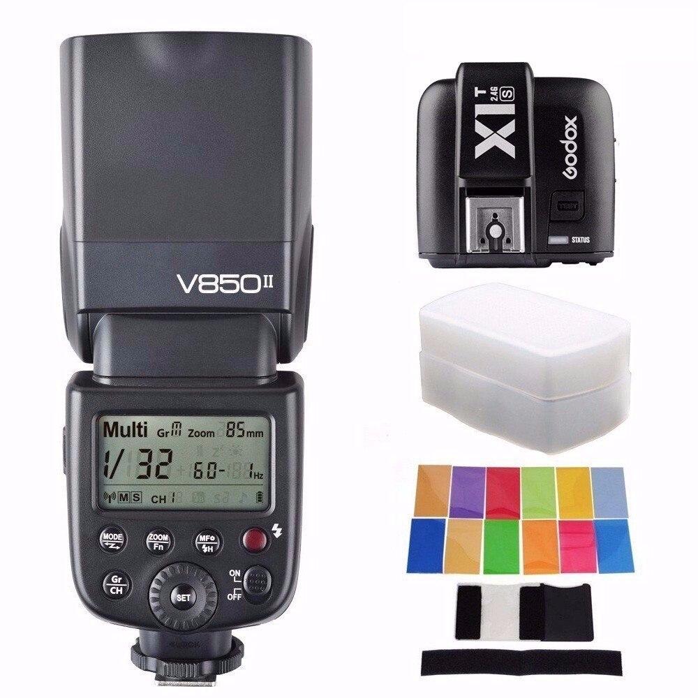 купить Godox V850 II universal TTL Speedlite Built-in 2.4G Li-ion Battery GN60 Flash For Canon Nikon Sony Pentax Olympus DSRL Camera онлайн