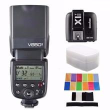цена Godox V850 II universal TTL Speedlite Built-in 2.4G Li-ion Battery GN60 Flash For Canon Nikon Sony Pentax Olympus DSRL Camera онлайн в 2017 году