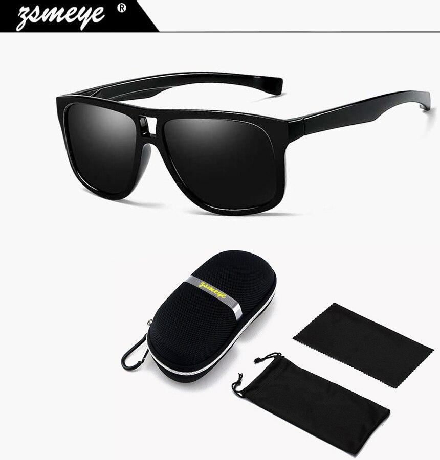 36d6e2f09cf02 ZSMEYE Brand 2018 Classic Sunglasses Men Polarized UV400 High Qualit Goggles  HD Drive Glasses Red Blue