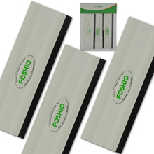 FOSHIO 3Pcs  6 Vinyl Car Wrap Film Install Squeegee Rubber Edge Kitchen Glass Shower Window Cleaning Tool Tint Scraper