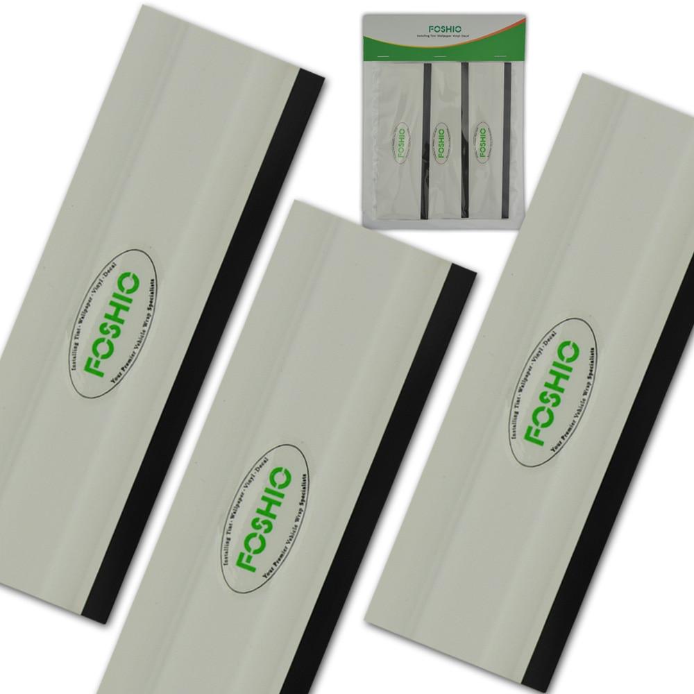 "FOSHIO 3Pcs 6"" Vinyl Car Wrap Film Install Squeegee Rubber Edge Kitchen Glass Shower Car Window Cleaning Tool Tint Tool Scraper"