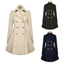 ZOGAA 2019 new women trench coat Autumn Women Double breasted Warm Windbreaker Causal Long ladies trench coat female Plus Size цена