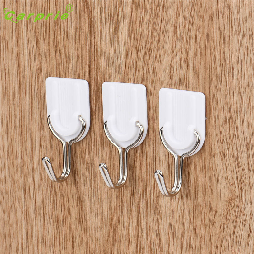 Dropship Hot Selling 6PCS Strong Adhesive Hook Car Wall Door Sticky Hanger Holder Kitchen Bathroom White Gift Aug 3
