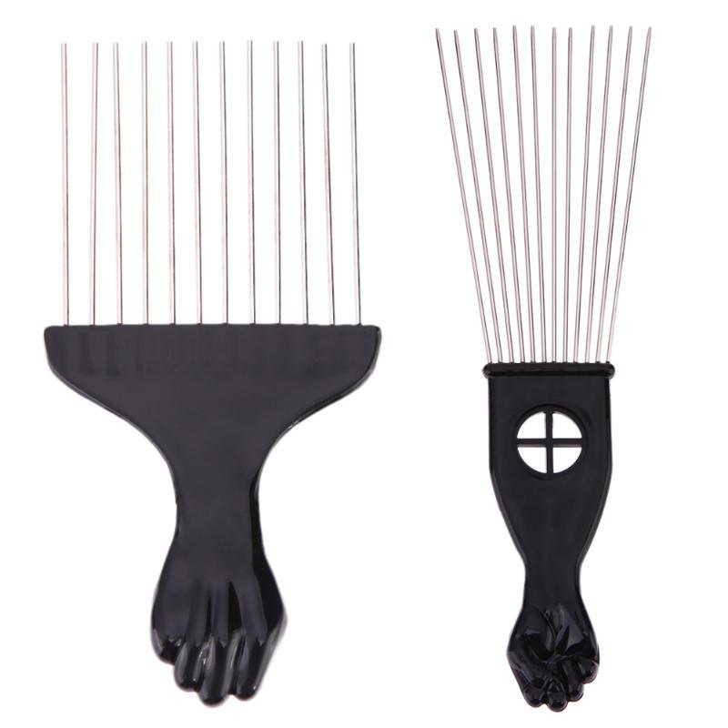 Salon Use Black Metal African American Pick Comb Hair Combs Afro Hair Comb For Hairdressing Styling Tool High Quality