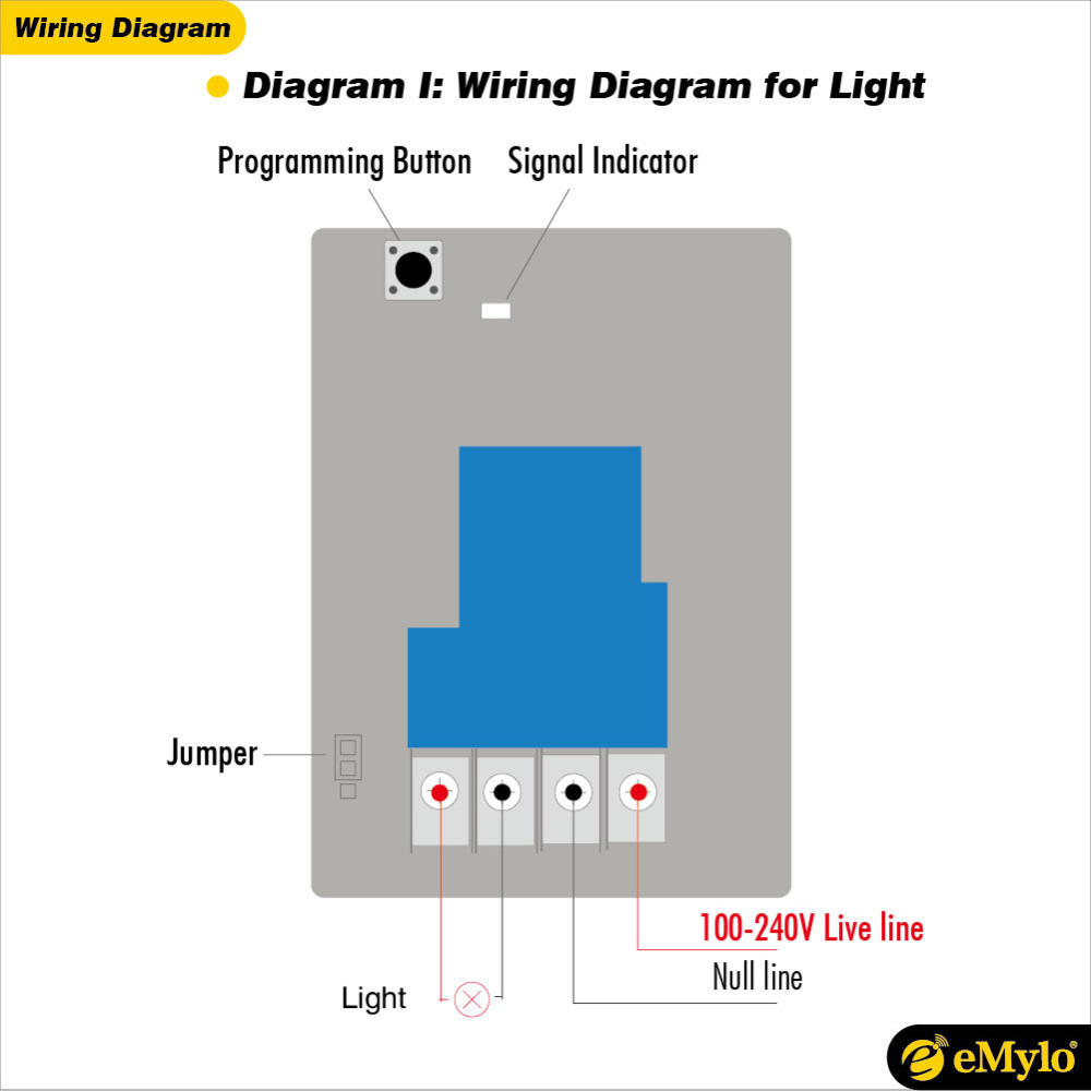 Wiring Diagram Remote Control Light Switch Schematic Diagrams Kedsumr Wireless 1 Way On Off Digital 110v For Emylo Ac 100 240v 2500w Smart