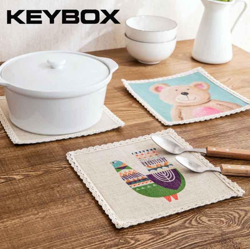 historieta impresa manteles mesas de comedor coaster caf t taza pad mantel de mesa de cocina