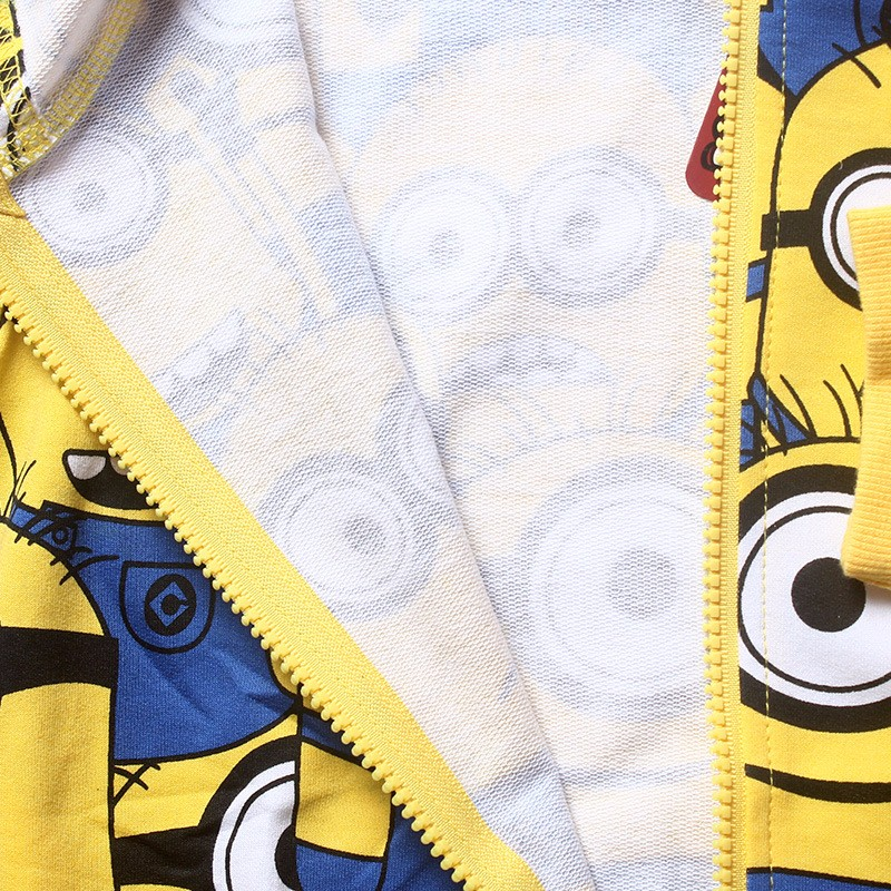 Minions boys clothes girls t shirts for kids clothing toddler in children Spring hoodies costume sweatshirts cartoon sweater (4)