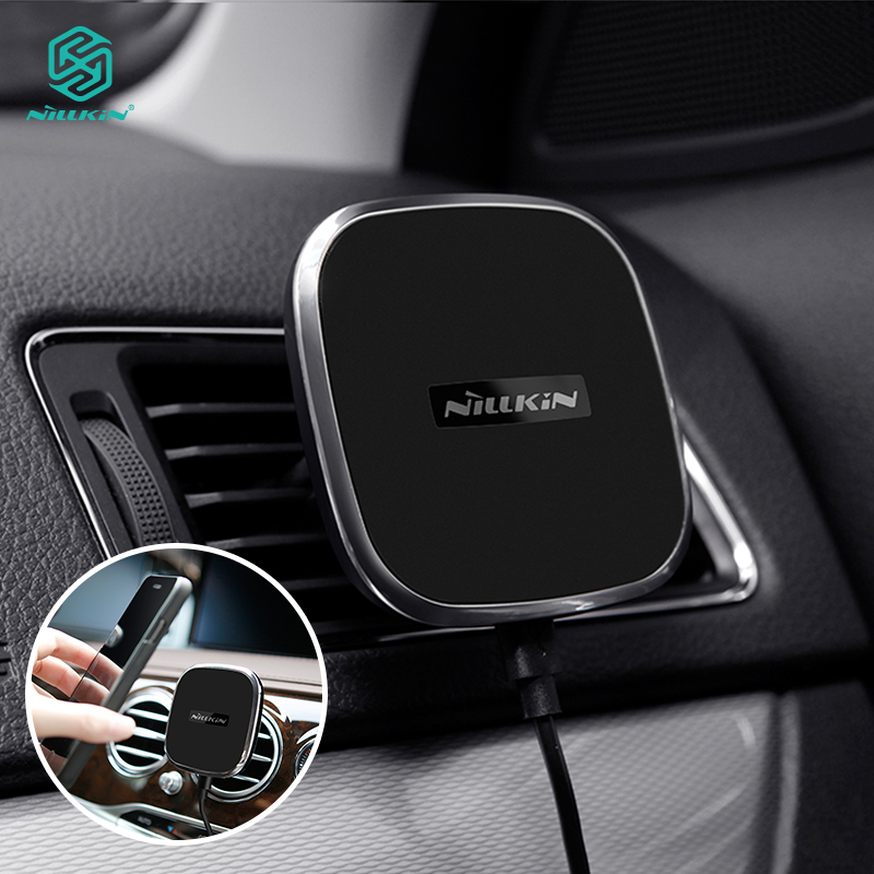 NILLKIN Car Magnetic QI Wireless Charger A Model 360 Degree Rotation Air Vent Charging for Samsung S10e S10 Plus for Xiaomi Mi 9NILLKIN Car Magnetic QI Wireless Charger A Model 360 Degree Rotation Air Vent Charging for Samsung S10e S10 Plus for Xiaomi Mi 9