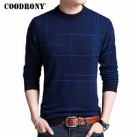 COODRONY Mens Knitted Sweaters Autumn Winter Thick Warm Merino Wool Pullover Men Casual O Neck Pull Homme Jumper Sweater Men 324