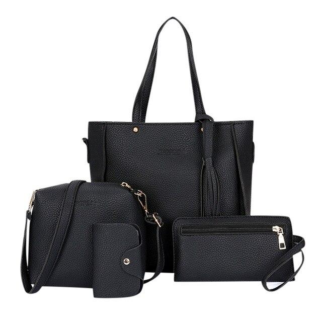 4pcs Woman Bag Set Purse...