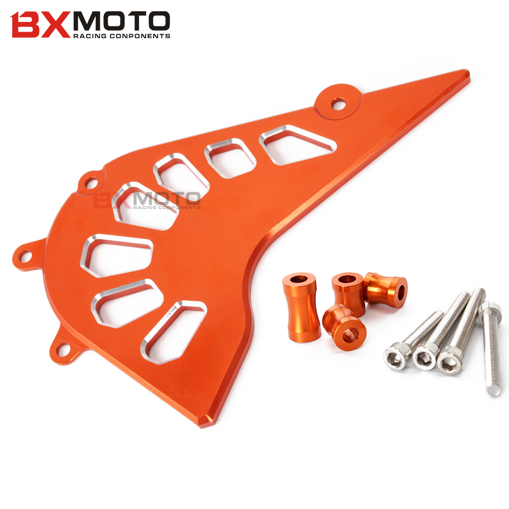Fashion motorcycle CNC Aluminum Billet Front Sprocket Cover Engine Chain Guard Case Protection For KTM DUKE 390 2013 2014 2015 cnc billet engine plug ignition cover plug for ktm 390 duke 2013 2014 2015 2016
