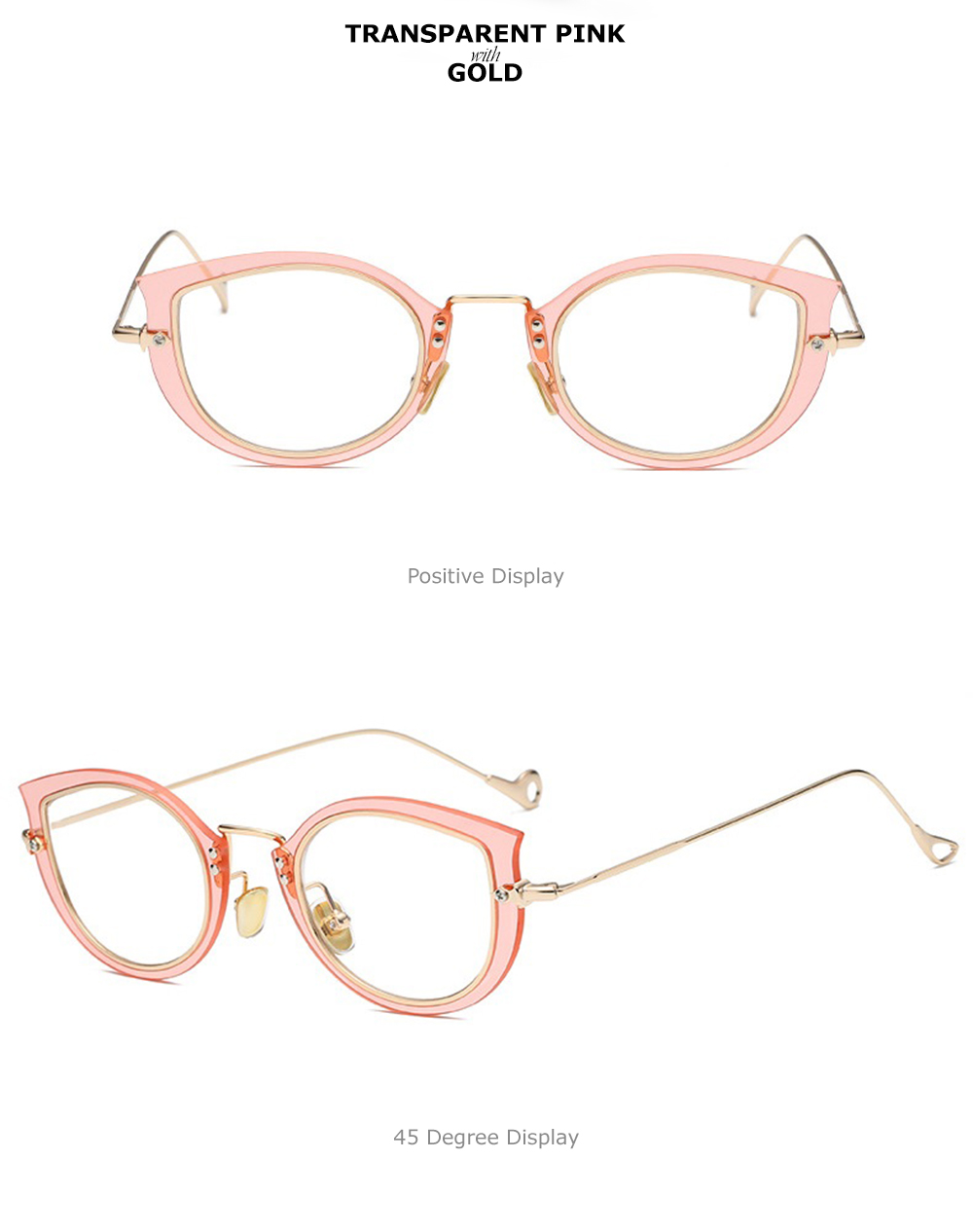 adff1d698ca Chashma Brand Female Eyeglasses Designer Cat Eye Stylish Transparent  Optical Glasses Frames Fashion Glasses for Women ...