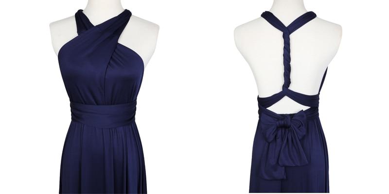 Sexy Long Dress Bridesmaid Formal Multi Way Wrap Convertible Infinity Maxi Dress Navy Blue Hollow Out Party Bandage Vestidos 19
