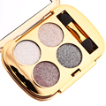 4 Colors Diamond Glitter Eye Shadow Palette Diamond Bright Smoky color 4 types long lasting natural cosmetic palette with mirror