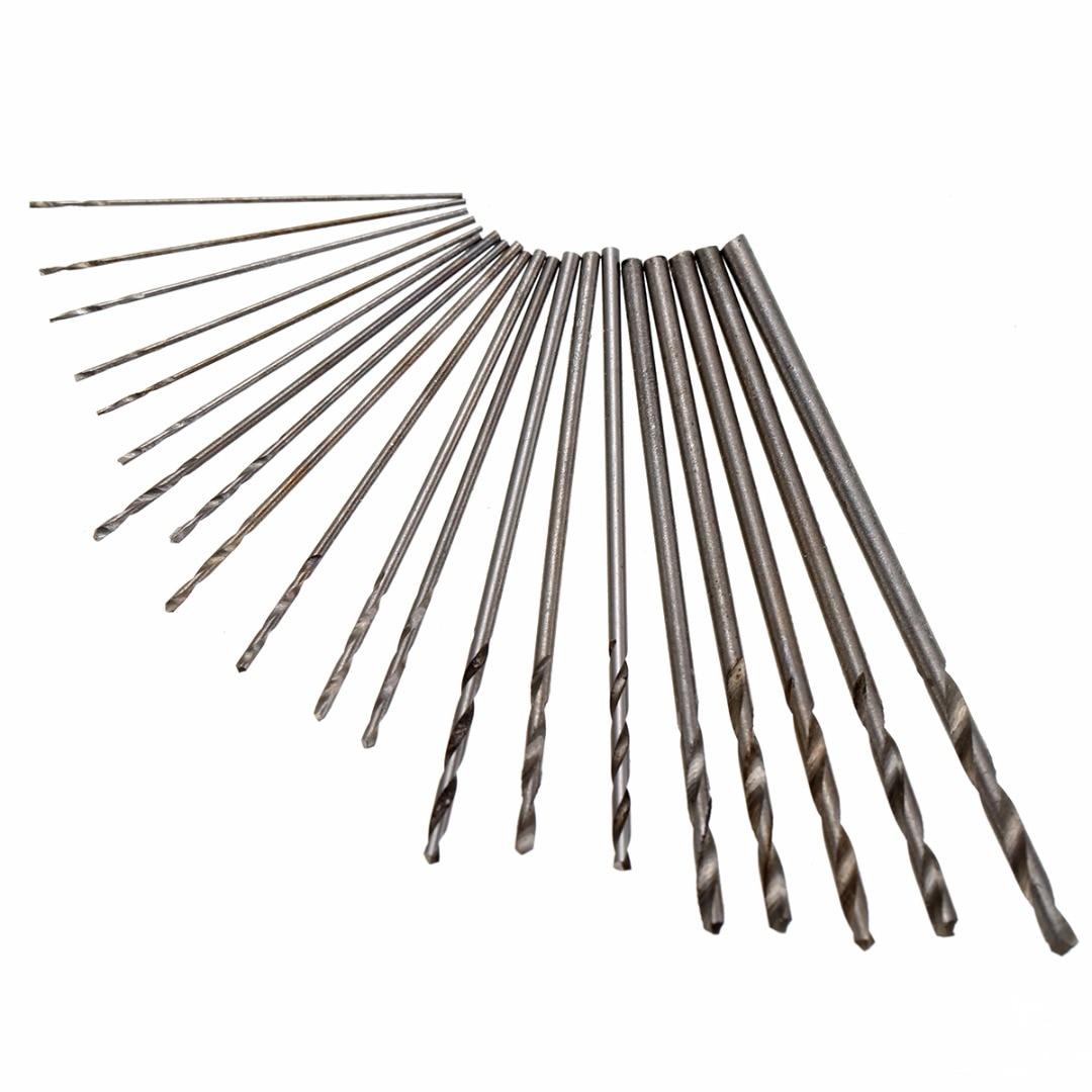 20pcs Precision Mini Micro Drill Bit HSS Twist Drill Bits Set Kit 0.3-1.6mm with Box For Repair Work free shipping of 1pc hss 6542 made cnc full grinded hss taper shank twist drill bit 11 175mm for steel