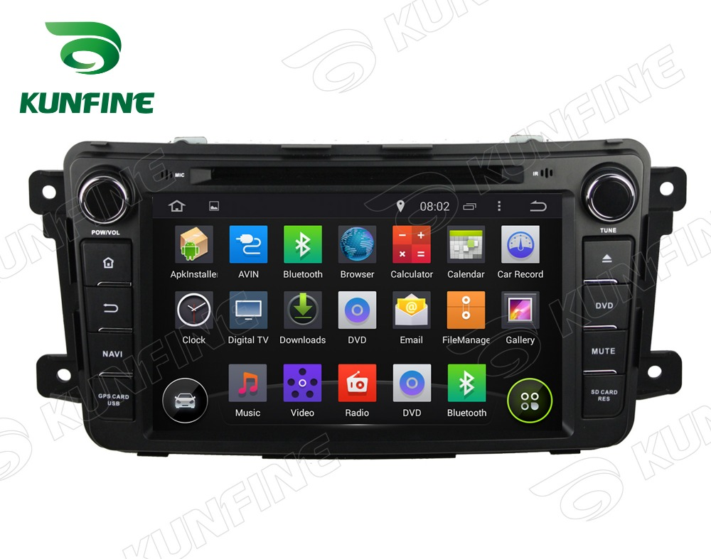 Quad Core 1024*600 Android 5.1 Car DVD GPS Navigation Player Car Stereo for MAZDA CX-9 2012-2013 Radio 3G Wifi Bluetooth