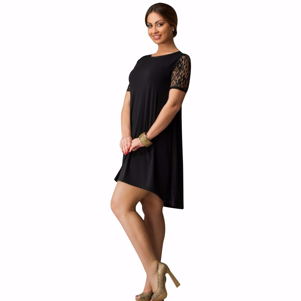 6xl большой размер dress 2017 летние платья плюс размер женщин кружева dress short sleeve casual dress плюс размер женской одежды vestidos