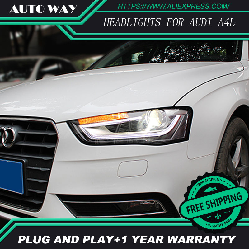 Car Styling Head Lamp for Audi A4L Headlights Audi A4 2013-2015 LED Headlight H7 D2H Hid Option Angel Eye Bi Xenon Beam hireno headlamp for 2016 hyundai elantra headlight assembly led drl angel lens double beam hid xenon 2pcs