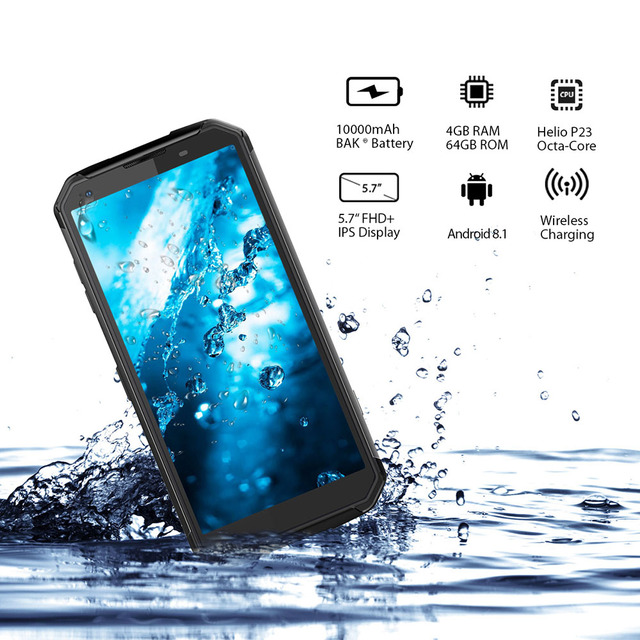Blackview BV9500 Original IP68 Waterproof Rugged Smartphone 10000mAh 4GB+64GB Android 8.1 FHD Fingerprint Unlock 4G Mobile Phone 1