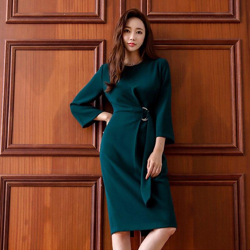 Mode femmes tempérament doux frais simple robe crayon OL nouveauté tempérament plein air gonflable confortable doux robe de soirée