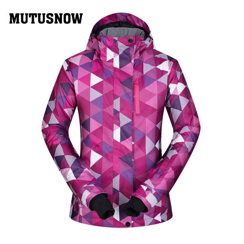 2019 Super chaud femmes veste de Ski coupe-vent imperméable à l'eau en plein air Sport porter des vêtements d'hiver Ski Snowboard manteau à capuche épaissir