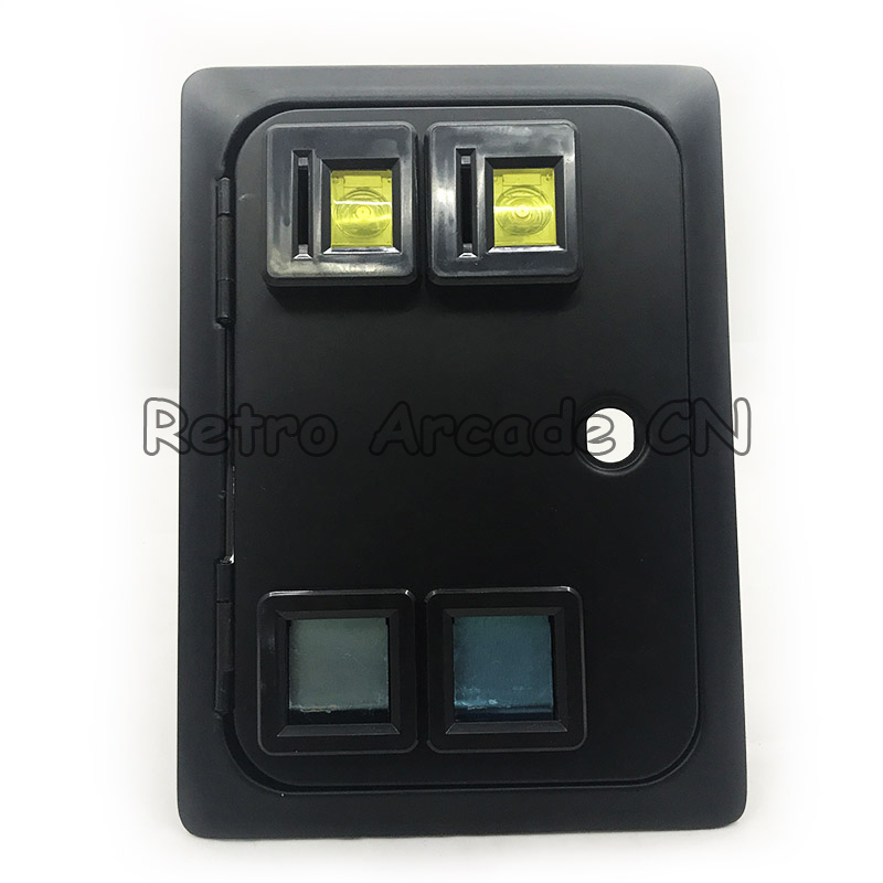 Dual american style coin door without coin acceptor for arcade cabinet casino machine slot game cabinet