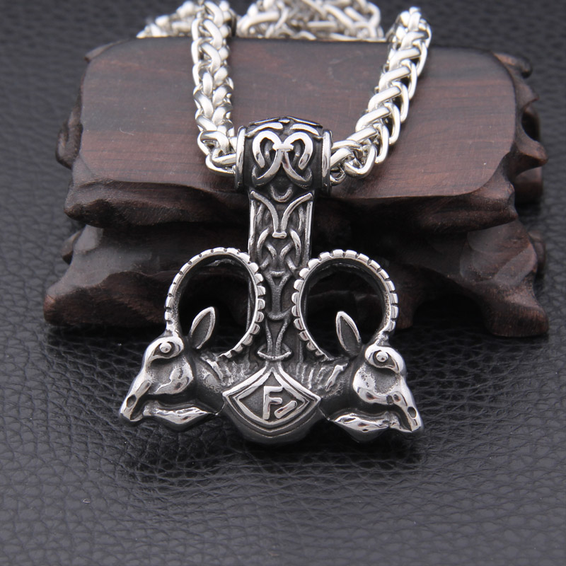 Punk Norse Viking Nordic Myth Thor Hammer High Quality Fashion
