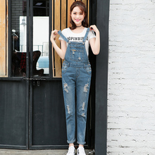 New Arrival Women Ripped Denim Jumpsuits S Overalls Casual Sexy Romper Plus Size Ladies Blue Jeans Jumpsuit Hot