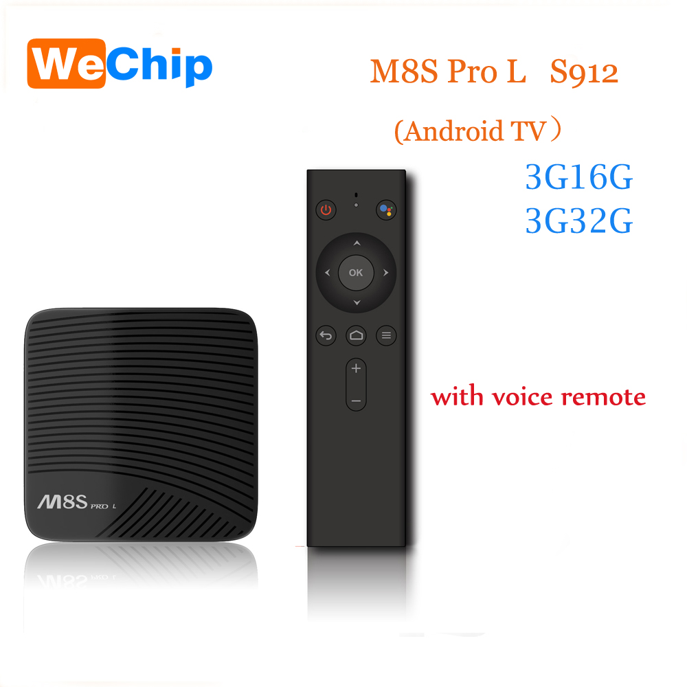 WeChip 3G32G 7.1 Android TV Amlogic S912 64 bit Octa core ARM Cortex-A53 CPU 2.4G/5G WiFi TV Box Bluetooth 4.1+HS Set Top Box latest amlogic s905 quad core 64 bit arm cortex a53 android 5 1 mx 64 tv box support kodi pre installed