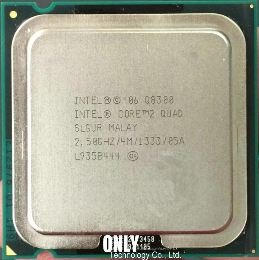 Процессор lntel Core 2 Quad Q8300, процессор (2,5 ГГц/4 м/1333 ГГц) Socket 775, настольный процессор (100% рабочий, бесплатная доставка)