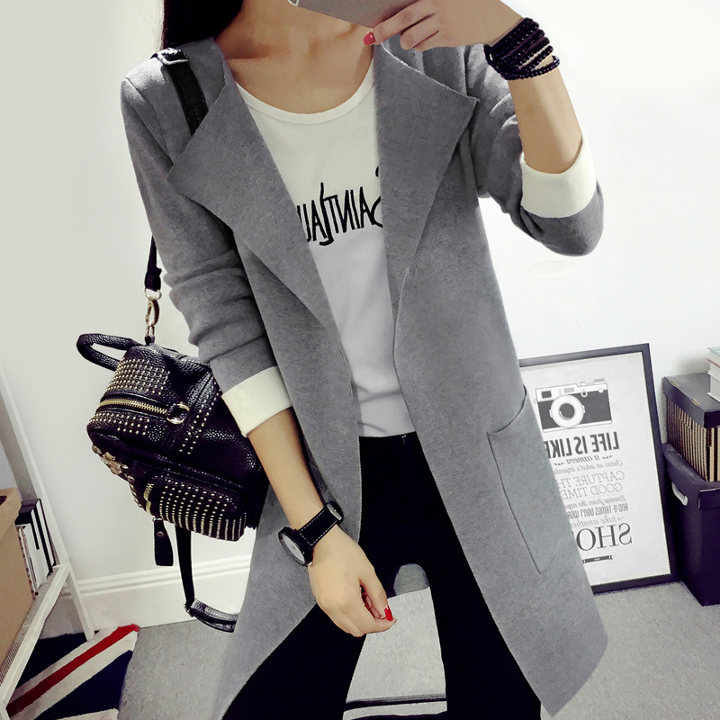 2017 New Autumn Winter Ms fashion Cardigan Sweater Women Long Sleeve Knitted Cardigans F ...
