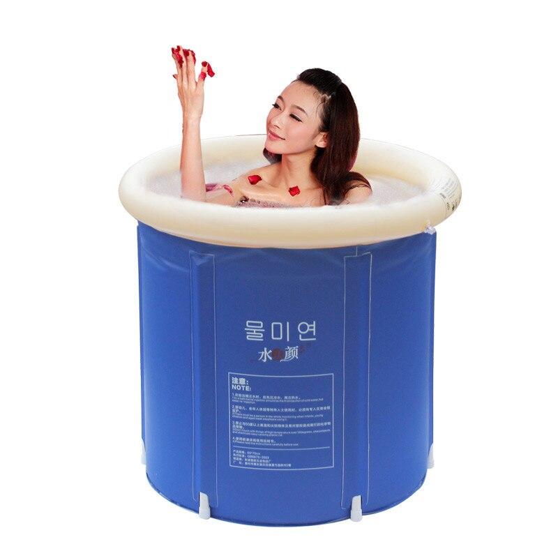 gli adulti gonfiabile vasca da bagno pieghevole vasca idromassaggio secchio di plastica vasca da bagno bambino