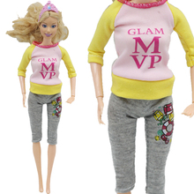 1Set Doll Clothing Fashionable outfits Casual Dress Suits For 1 6 Doll Best Gift Baby Toy