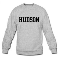 Mens Hoodies HUDSON Logo Clothings Persionalized Custom O Neck Casual Men S Crewneck Sweatshirts Funny Graphic