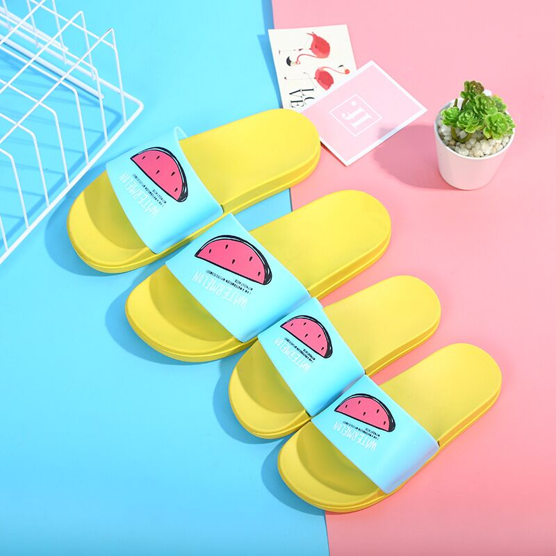 Slippers Men's Shoes New Men Slippers Fashion Summer Lovely Ladies Casual Slip On Fruit Jelly Beach Flip Flops Slides Woman Skid Indoor Shoes