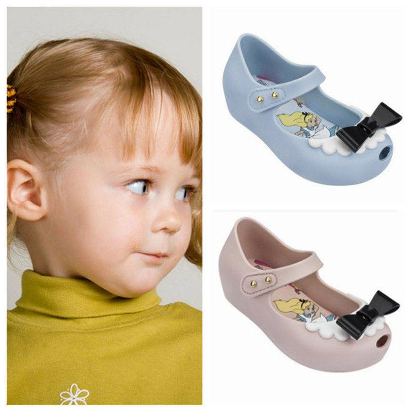 Mini Melissa 2018 New Brazilian Beauty Beast Jelly Sandals Rose Melissa Children Shoes Sandals Beauty Sandals 15-18cm