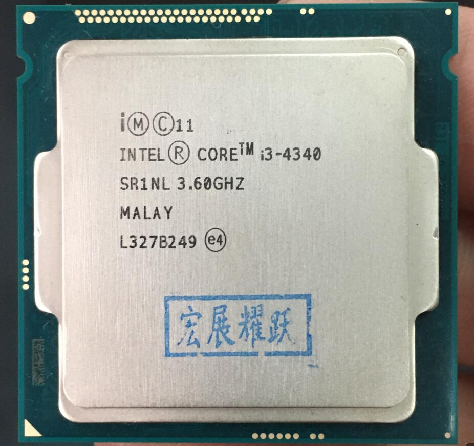 Intel Core Processeur I3 4340 I3-4340 LGA1150 22 nanomètres Dual-Core 100% fonctionne correctement De Bureau Processeur