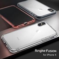 Ringke Fusion Case For IPhone X Dual Layer Hard PC Back Panel Soft TPU High Quality
