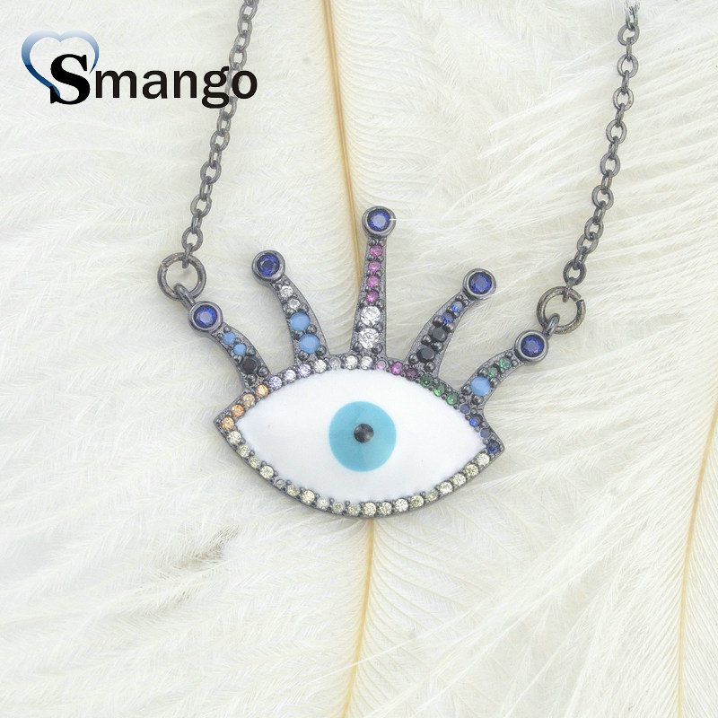 Pop Charms The Rainbow Series Jewelry The Eye Shape Pendant Necklace Can Wholesale Necklace Women 5Pieces in Pendant Necklaces from Jewelry Accessories