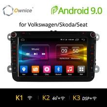 4G SIM сети LTE Ownice K1 K2 Octa 8 Core Android 8,1 2G RAM 2 Din автомобильный DVD gps Navi Радио-плеер для VW Skoda Octavia 2