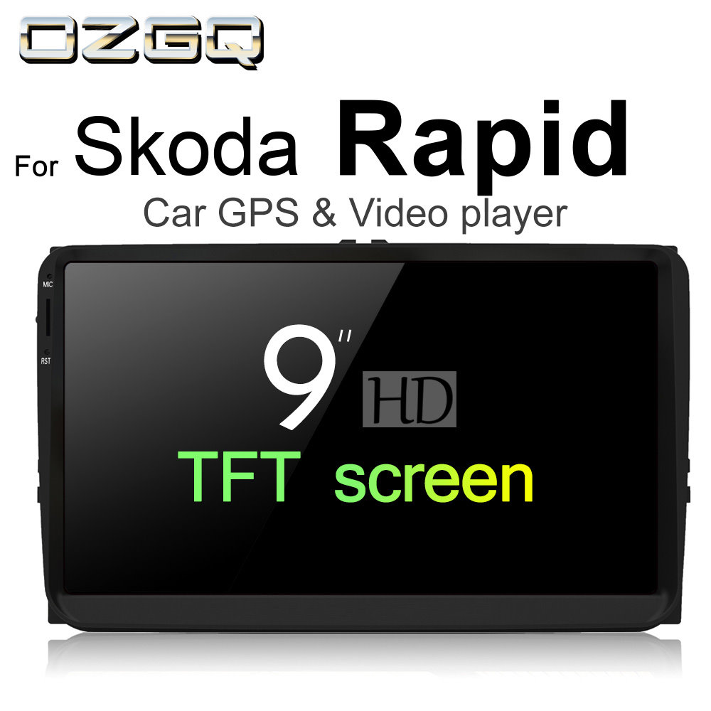 OZGQ Android 7.1 Car Player For Skoda Rapid 2011~2018 HD Screen Auto GPS Navigation Bluetooth Radio TV Audio Video Music Stereo ...